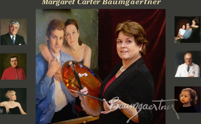 "Wed, April 24, 2019 – PLEASE NOTE DIFFERENT DATE (Rescheduled from March) ""A Simple Approach to Elegant Paintings"" – Margaret Carter Baumgaertner"