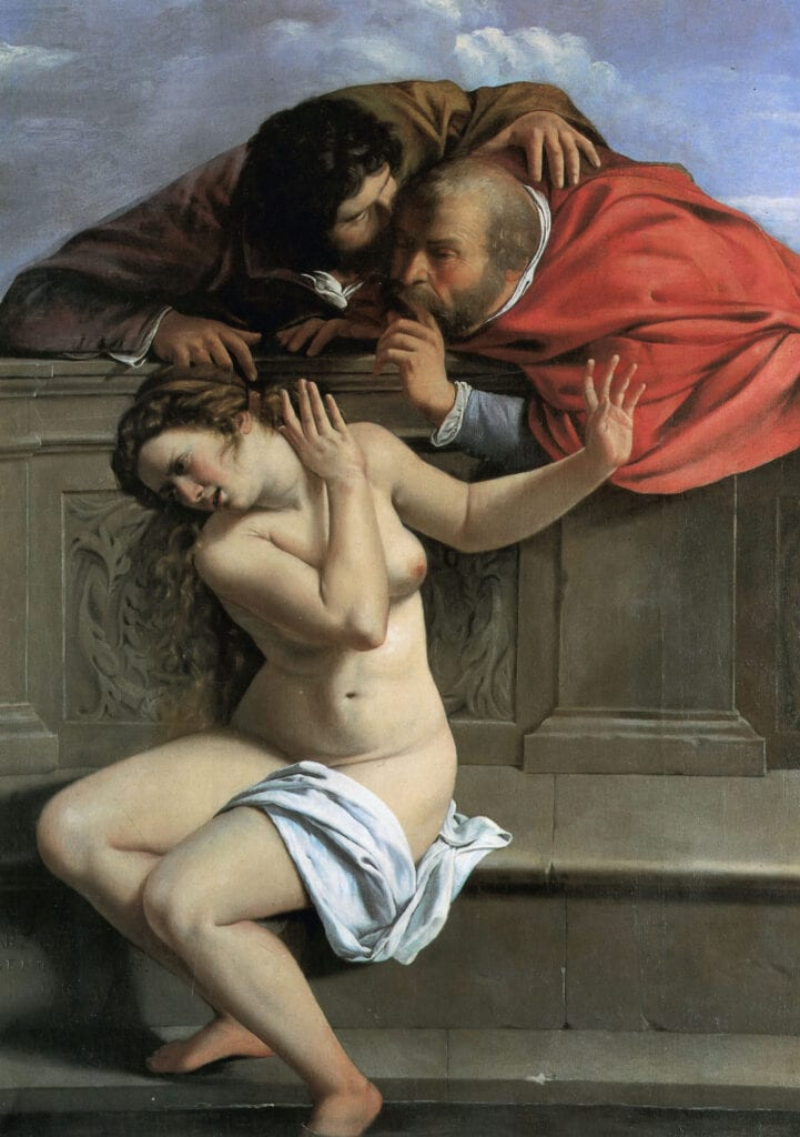Artemisia Gentileschi's painting of Susanna and the Elders