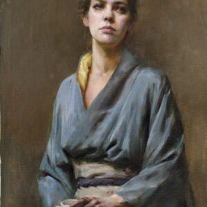 Blue Kimono by Mary Qian