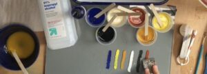 mixing egg tempera paint
